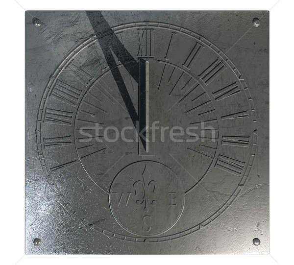 Zegar słoneczny starych vintage zegar metal Roman Zdjęcia stock © albund
