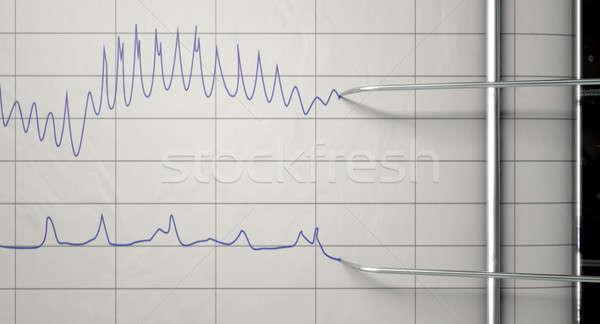 Mentir detetor corpo máquina Foto stock © albund