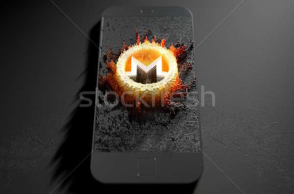 Monero Cloner Smartphone Stock photo © albund