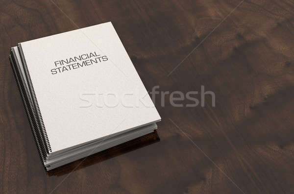 буклет проволоки финансовых документы Boardroom Сток-фото © albund