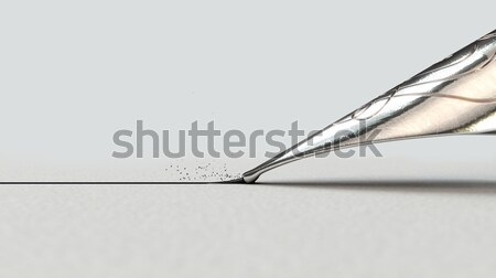 Töltőtoll rajz vonal közelkép kilátás díszes Stock fotó © albund