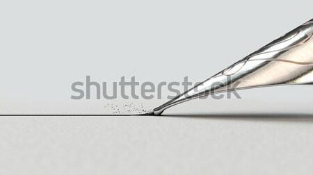 Fountain Pen Drawing Line Stock photo © albund