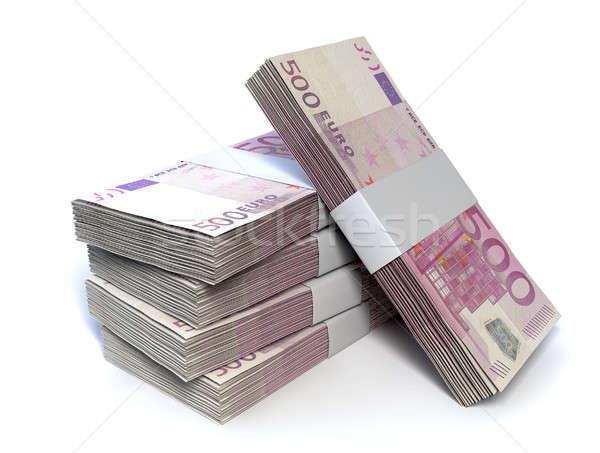 Euro Bill Pile Perspective Stock photo © albund