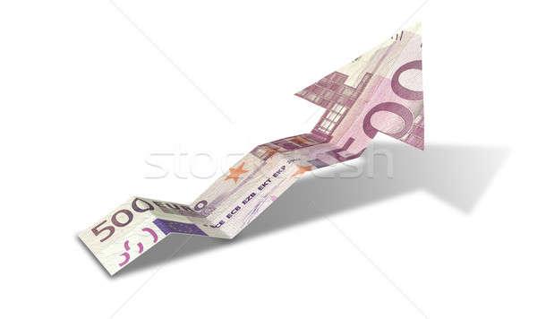 Euro Bank Note Upward Trend Arrow Stock photo © albund