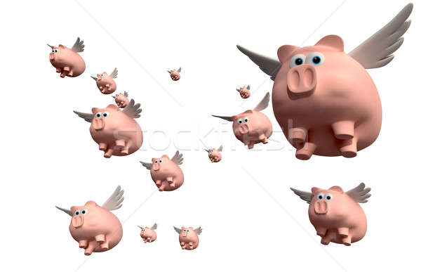 When Pigs Fly Group Stock photo © albund