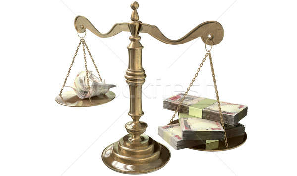 Inequality Scales Of Justice Income Gap India Stock photo © albund