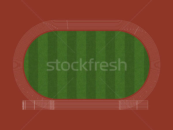 Athletics Track Layout Stock photo © albund