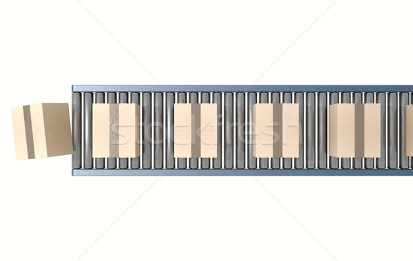 Stock photo: Roller Conveyor With Boxes