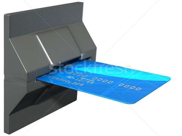 Credit Card In Payment Slot Stock photo © albund
