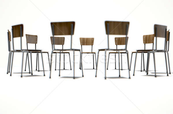 Group Therapy Chairs Stock photo © albund