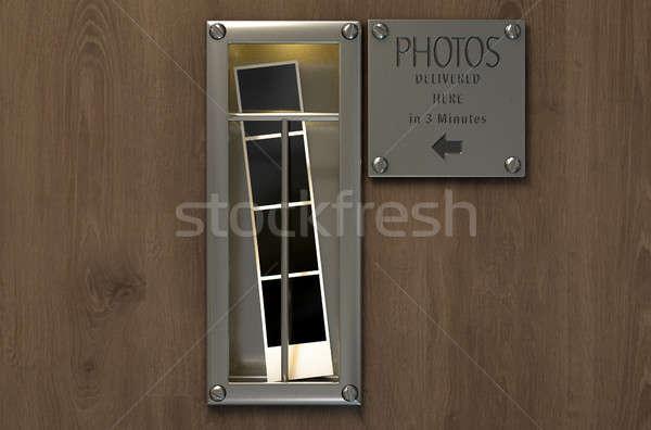 Bağbozumu fotoğraf kabin 3d render Stok fotoğraf © albund