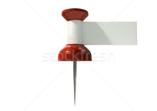 Stok fotoğraf: Etiket · kırmızı · beyaz · bant · etiket · bağlı