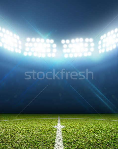 スタジアム サッカー ピッチ 緑の草 1泊 ストックフォト © albund