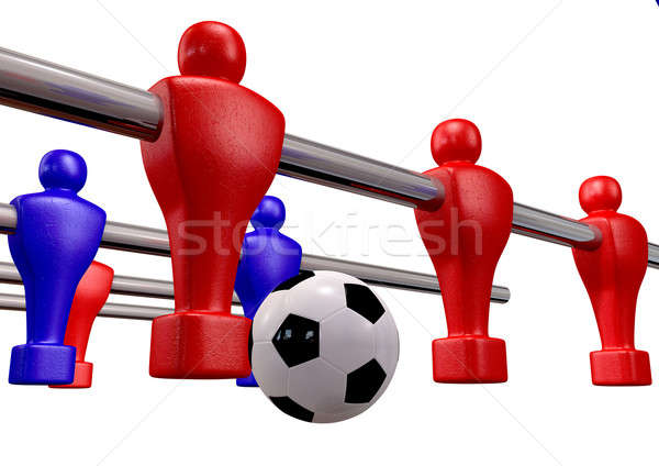 Foosball Kickoff Front Isolated Stock photo © albund