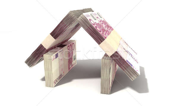 Euro Notes House Perspective Stock photo © albund