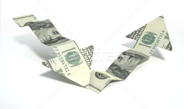Dollar Bank Note Recovery Trend Arrows Stock photo © albund