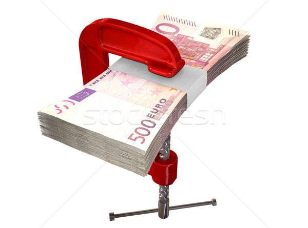 Clamped Euro Notes Stock photo © albund