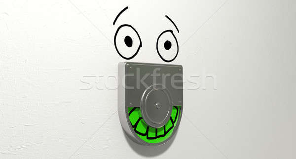 Vacant Green Relief Defacement Stock photo © albund
