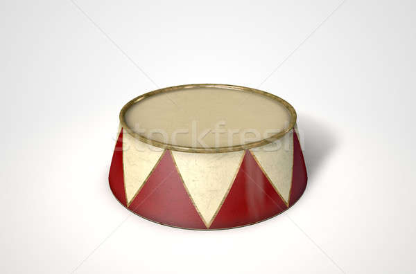 Circus Podium Isolated Stock photo © albund