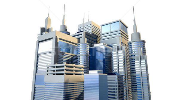Brillant modernes ville groupe faible Photo stock © albund