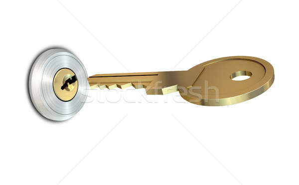 Key Approaching Empty Slot Stock photo © albund