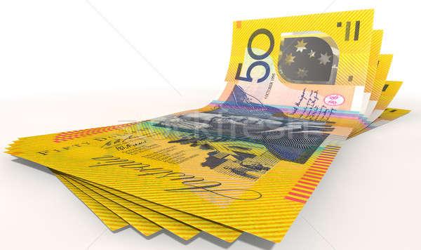 Australian Dollar Bank Notes Spread Stock photo © albund