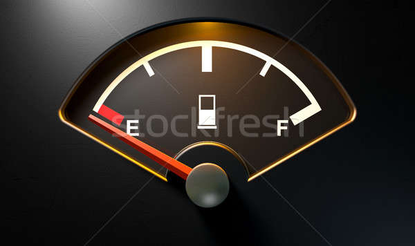 Gas Gage Illuminated Empty Stock photo © albund