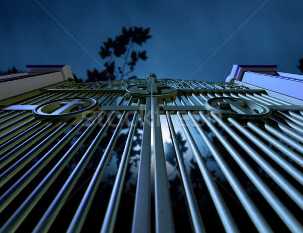 Cemetery Gates At Night Stock photo © albund