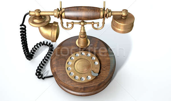 Vintage Telephone Isolated Stock photo © albund