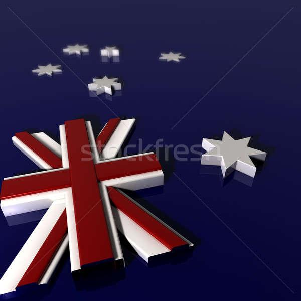 Three Dimentional Extruded Australian Nation Flag Stock photo © albund