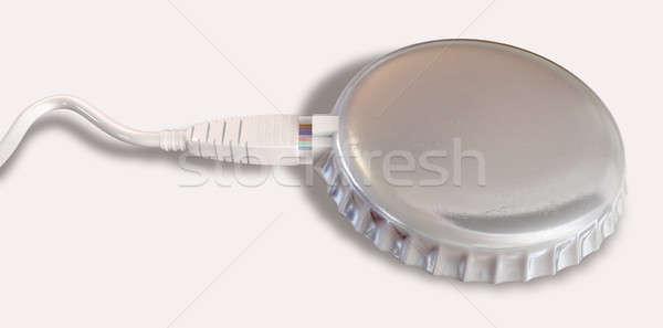 Internet veri bant genişliği kapak ethernet kablo Stok fotoğraf © albund
