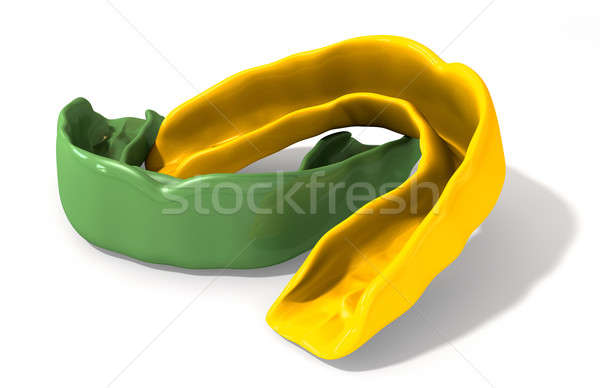 Gum Guard Green and Gold Perspective Stock photo © albund