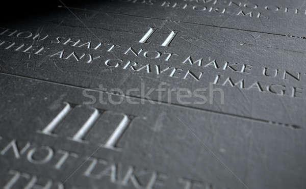 The Second Commandment Stock photo © albund