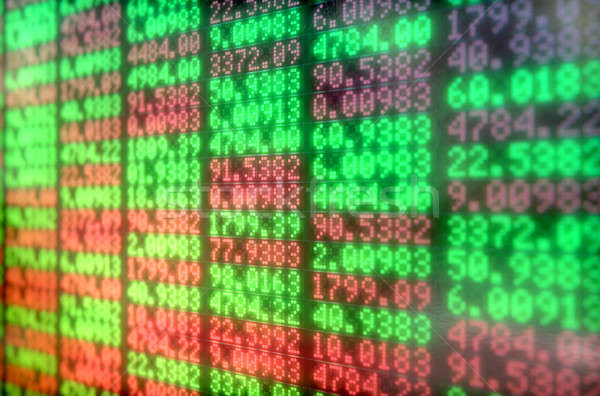 Stock Market Digital Board Stock photo © albund