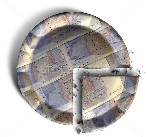Plakje brits pond taart top Stockfoto © albund