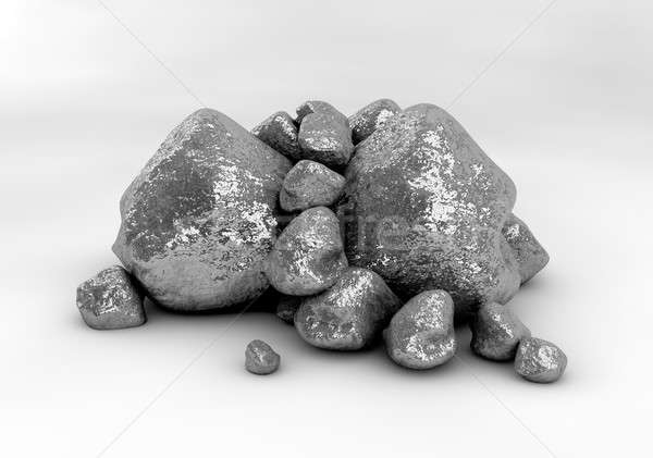 Platinum NUggets Stock photo © albund