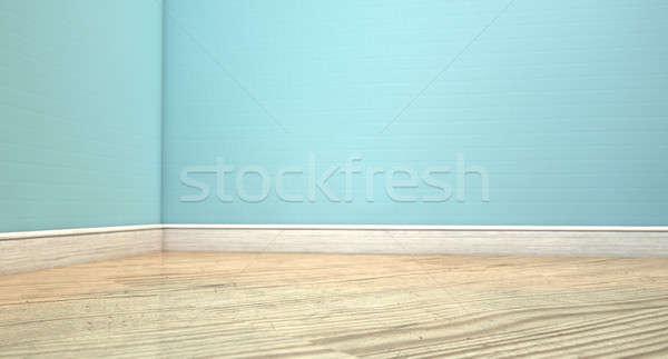 の空室 水色 壁 ルーム ストックフォト © albund