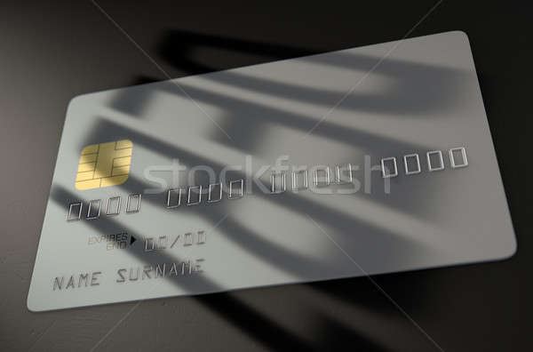Debt Shadow Credit Card Stock photo © albund