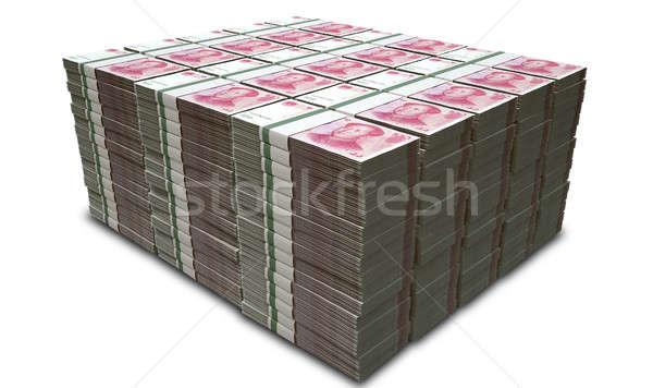 Yuan Notes Stacked Pile Stock photo © albund
