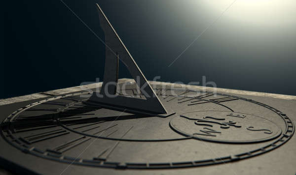 Stock photo: Sundial Lost In Time