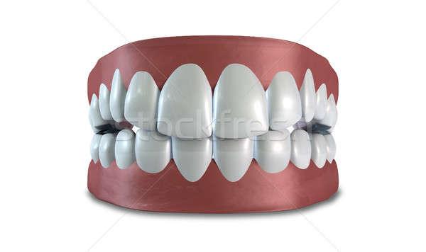 Teeth Set Closed Isolated Stock photo © albund