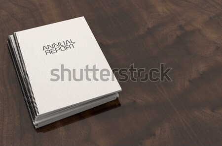 Apresentação folheto arame documentos sala de reuniões Foto stock © albund
