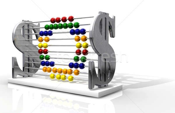 SOS Debt Abacus  Stock photo © albund