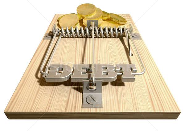 Mouse Debt Trap Front Coins Stock photo © albund