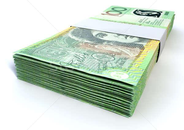 Australian One Hundred Dollar Notes Bundles Stock photo © albund