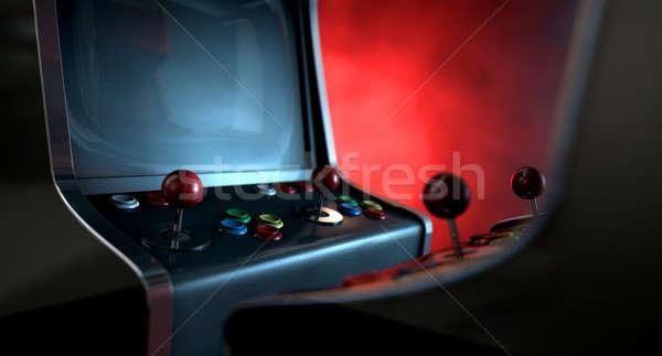 Macchina duello due vintage giochi pulsanti Foto d'archivio © albund