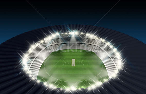 Stock photo: Cricket Stadium Night