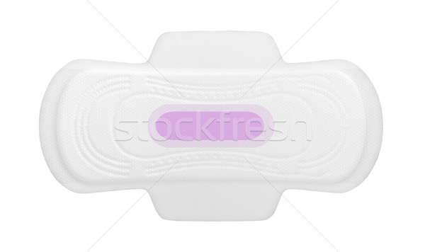 Sanitário regular rosa imprimir isolado branco Foto stock © albund