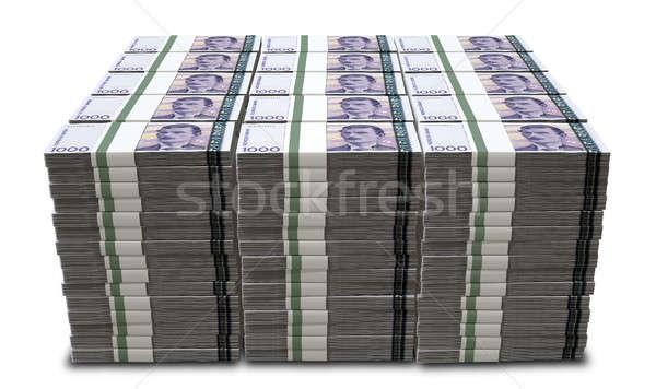 Norwegian Krone Notes Bundles Stack Stock photo © albund