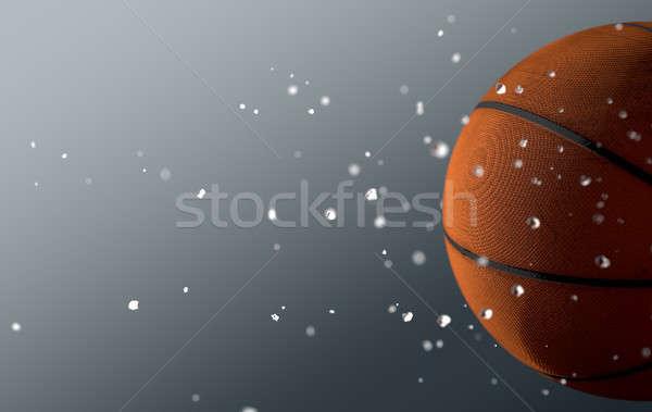 Basket Ball In Flight Stock photo © albund